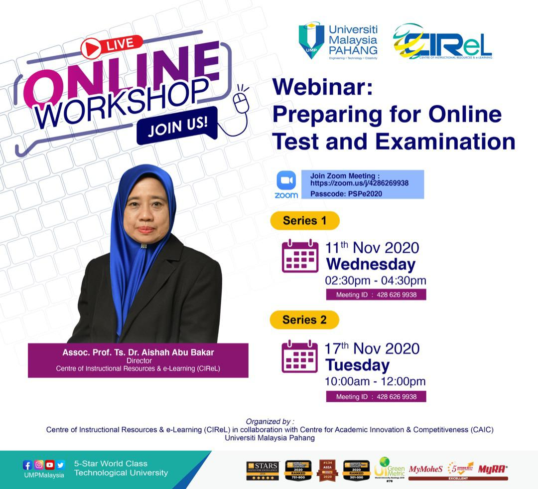 Webinar: Preparing for Online Test and Examination