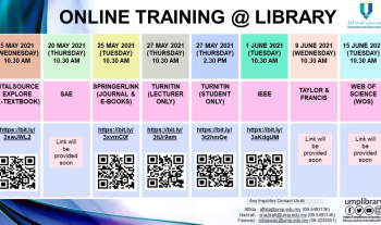 ONLINE TRAINING SESSION ON SUBSCRIBED LIBRARY ONLINE DATABASES